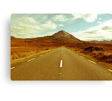 landscape of road to the Errigal mountains Canvas Print