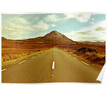 landscape of road to the Errigal mountains Poster