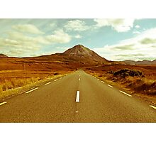 landscape of road to the Errigal mountains Photographic Print