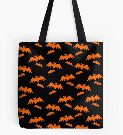 Picto Halloween - Bats orange Tote Bag