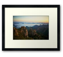 Yellow Mountains Framed Print