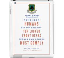 School Poster iPad Case/Skin