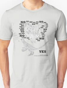Just say NO to unfeathered non-avialan maniraptoran theropod dinosaurs Unisex T-Shirt