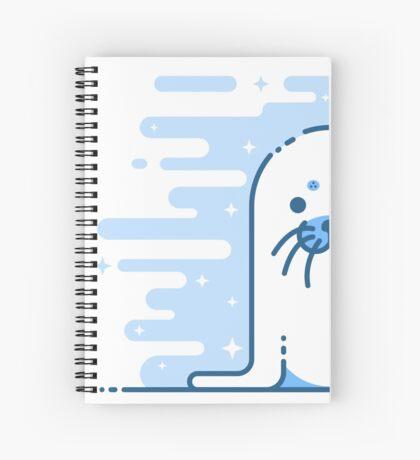Cute Blue Seal Spiral Notebook