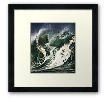 Monster Waves At Waimea Bay Framed Print