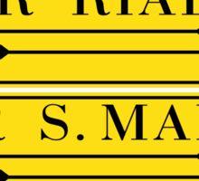 Per Rialto, Per San Marco, Venice Street Sign, Italy Sticker