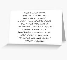 """My heart is """"reserved"""" for you (Handwritten) Greeting Card"""