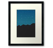 Mountain Skyline Framed Print