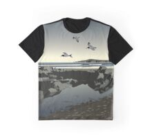 Poppit Sands beach, West Wales Graphic T-Shirt