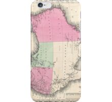 Vintage Map of Australia (1862) iPhone Case/Skin