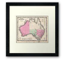 Vintage Map of Australia (1862) Framed Print