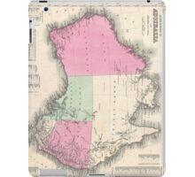 Vintage Map of Australia (1862) iPad Case/Skin