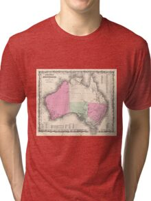 Vintage Map of Australia (1862) Tri-blend T-Shirt