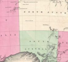 Vintage Map of Australia (1862) Sticker
