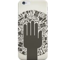 Arts a hand iPhone Case/Skin