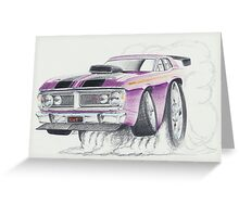 XY GT Burn out by Glens Graphix Greeting Card