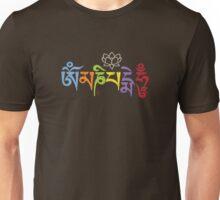 ohm mani padme hum colored Unisex T-Shirt