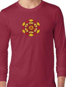 Sacred Geometric Vortex Long Sleeve T-Shirt