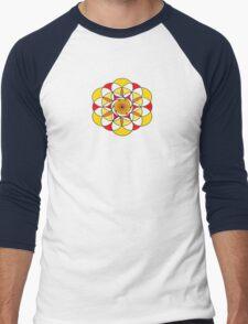 Sacred Geometric Vortex Men's Baseball ¾ T-Shirt