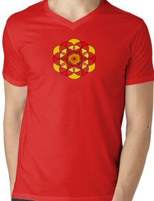 Sacred Geometric Vortex Mens V-Neck T-Shirt