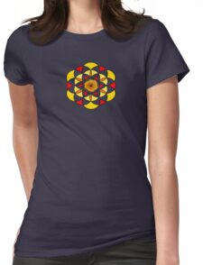 Sacred Geometric Vortex Womens Fitted T-Shirt