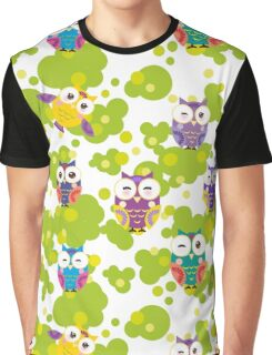 Colourful owls Graphic T-Shirt