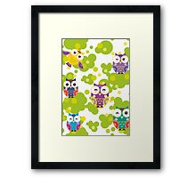 Colourful owls Framed Print