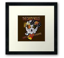 Happy Halloscream Streaming! - The Candy Skulls Framed Print