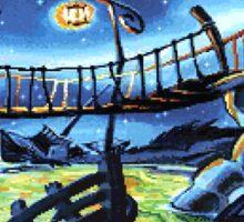 Scabb Island Panorama (Monkey Island 2)  Sticker