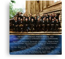 1927 Solvay Conference (LISA wave bg), posters, prints Canvas Print