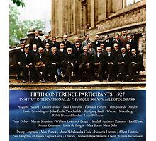 1927 Solvay Conference (LISA wave bg), posters, prints Photographic Print