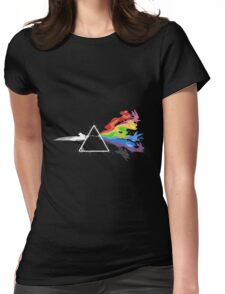 Eeveelution - dark side of the moon Womens Fitted T-Shirt