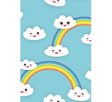 Happy rainbow and clouds Photographic Print