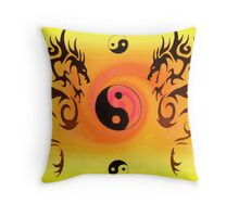 Double Dragon Throw Pillow