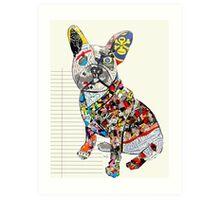 french bulldog modern  Art Print