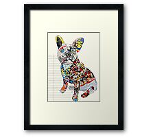 french bulldog modern  Framed Print