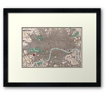 Vintage Map of London England (1862) Framed Print