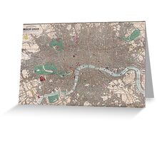 Vintage Map of London England (1862) Greeting Card