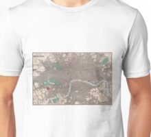 Vintage Map of London England (1862) Unisex T-Shirt