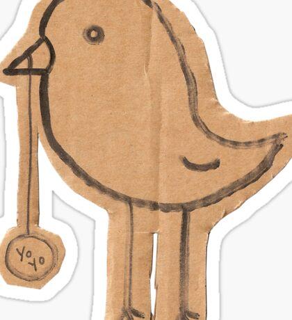 yo-yo bird Sticker