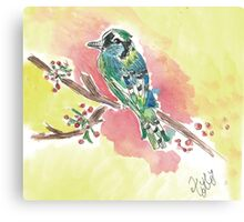 Bird watching lover Canvas Print