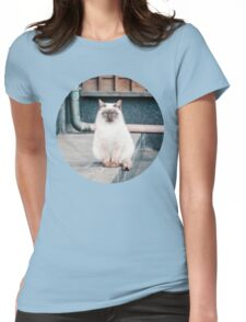 Cat, Aso, Temple Womens Fitted T-Shirt