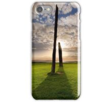 Standing Stones of Stenness .  Orkney Islands. Scotland. iPhone Case/Skin