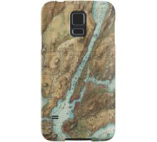 Vintage Map of New York City Harbor (1864)  Samsung Galaxy Case/Skin