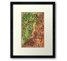 The Holly and the Oak King Framed Print