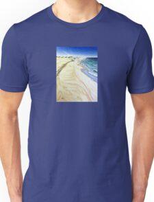 Island Beach on a windy day Unisex T-Shirt
