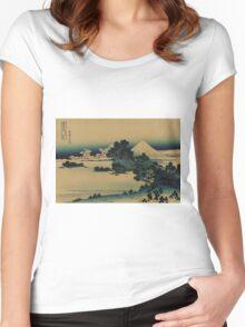 Soshu shichirigahama - Hokusai Katsushika - 1890 Women's Fitted Scoop T-Shirt