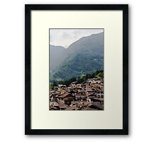 mountain landscape Framed Print