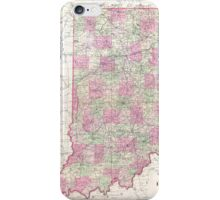 Vintage Map of Indiana (1864) iPhone Case/Skin
