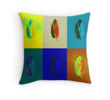 Sequence of Peaceful Leaves – Yellow & More Throw Pillow